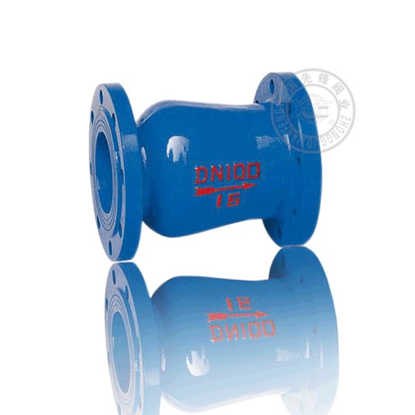 HC42X-16 法蘭升降立式軟密封鑄鐵(KTH300-06)止回閥