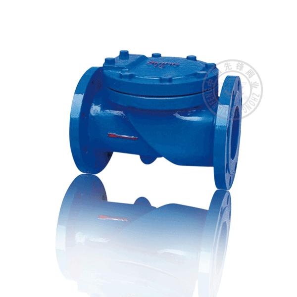 HC44X-16 法蘭旋啟單瓣式軟密封鑄鐵(KTH300-06)止回閥