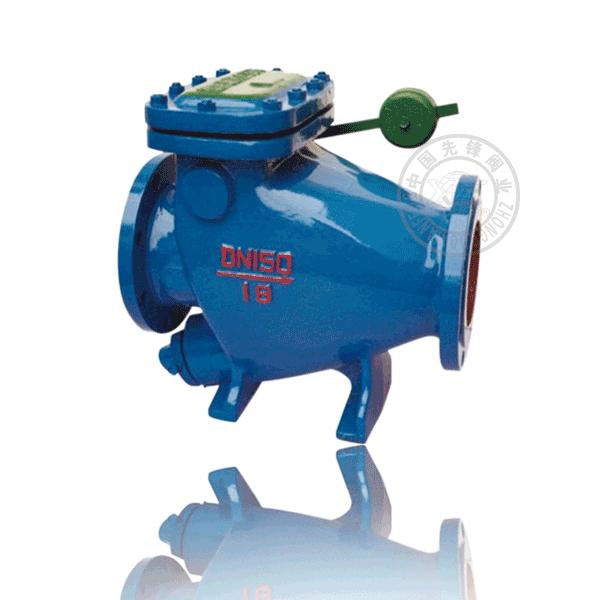 HH44H-16 法蘭旋啟單瓣式硬密封鑄鐵(KTH300-06)微阻緩閉止回閥